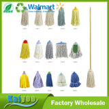 Plastic Replaceable Floor Cleaning Mop Head with Wooden Handle