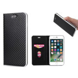 PU Mobile Phone Wallet Case for iPhone 7/8-Black
