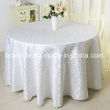 Wedding Table Cloth 108inches Jacquard Round Table Cover