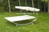 Double Seater Lounger with Canopy and Wheel