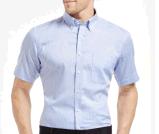 Top-Quality Men's Slim Short-Sleeve Cotton Stripe Formal/Casual Business Shirt