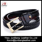 3.5cm Width Men's German Bond Braided Leather Belt