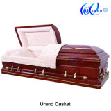 Solid Cherry Antique Wooden Coffin American Coffin and Casket