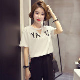 Comfortable Women′s T-Shirt Short Sleeve Made in China