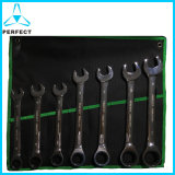 Perfect Mirror Polish Combination Ratchet Wrench Set
