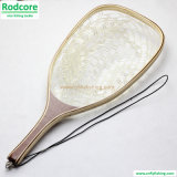 Ln05 Hard Wood Handle Clear Rubber Landing Net