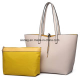 Ladies PU Leather Large Reversible Contrast Tote Shoulder Bag
