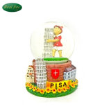 Pisa Tower Snow Globe Snow Polyresin Glass Snow Globe Italy