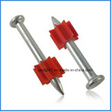 Galvanized Gun Shoot Nail Drive Pins with Red Buffer