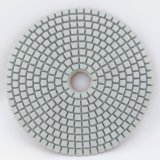 "4"" White Pane Diamond Flexible Polishing Pad Available for Both Dry and Wet Use"