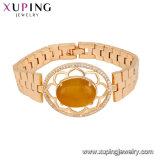 74992 Xuping Gold Jewellery Designs with Price Magnet Opal Gold Watch Bracelet