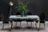 Dining Console Table Modern Black White Glass Top Louis Table