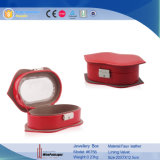 New Designs Red Lip Shape Leather Jewelry Packaging Boxes (6756)