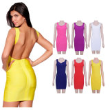 Open Back  Bandage Dress Celebrity Club Dress Tight Cocktail Dresses