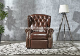 2018 New Luxury Chesterfiled Armchair Genuine Leather Chair