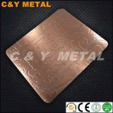201 304 316 Etching Stainless Steel Sheets with Red-Copper Color