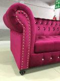 Classic Button Tufted Fabric Sofa
