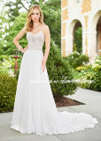 A-Line Wedding Dresses Lace Beaded Beach Garden Traveling Wedding Gown H2018126
