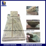 Mason Customized Monument with Carving Pillow in Kashmire White