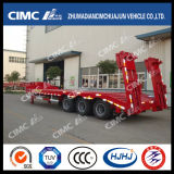 Straight-Beam 3axle Lowbed Semi Trailer with Cover on Tire