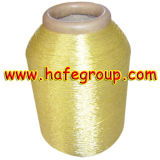 Pure Gold 600d Metallic Yarn on Polyester & Rayon & Cotton Yarn
