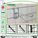 Metal Shop Display Hanging Hooks Grid Wall Retail Display Hook
