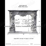 White Carrara Sculpture Fireplace for Home Decoration Mfp-234