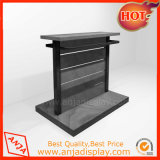 Wooden Clothes Floor Display Fixture with Metal Hanger