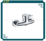 Chrome Finished Wall Mounted Bathroom Faucet
