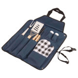 7-Piece Outdoor BBQ Tools Utensil Set Picnic Bag