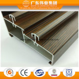 Wood Grain Double Track Sliding Door Extruded Aluminum