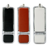 New Arrival Leather 64GB Pen Drive Real Capacity 4GB