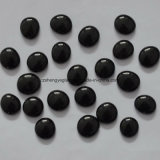 Decorative Black Colored Flat Round Crystal Glass Beads