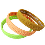 Customized Colorful Brand Embossed Logo Wrist Band (XD-WB-01)