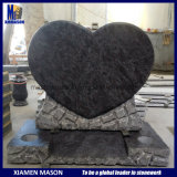 Special Bespoke Rock Edged Heart Design Granite Monuments with Bahama Blue