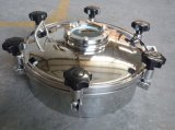 Stainless Steel Hygienic Grade Pressure Cover with Glass Top