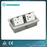 Recessed Floor Outlet Cover with Two Gang Stainless Steel Plate