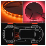 """APP Controlled Sync to Music 15"""" Wheel Ring Chasing Light Dynamic Glow LED Car Lights 4PCS SMD Flexible Strip Lights"""