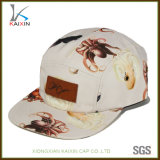 Design Your Own Leather Patch Animal Print 5 Panel Hat