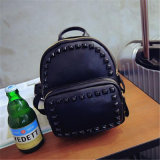 Korean Version of The New PU Rivet Leather Female Bag / Casual Fashion Color Rivet Backpack (GB#7859)