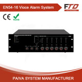 6 Zone En54 Voice Alarm System Amplifier Router with Class-D 240W AMP