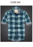 Men's 100% Cotton Yarn Dyed Washing Casual Plaid Shirt (546)