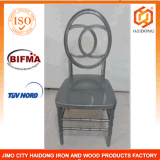 Polycarbonate Resin Double C Infinity Chair in Silver Color