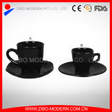 Coffee Cup & Saucer in Black Color
