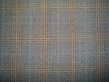 Wool Polyeter Suit Check Fabric