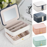 Elegant Leather Gift Jewelry Box for Earring Necklace Bracelet Ring