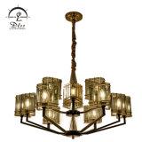 Zhongshan Lighting Factory Stainless Steel Iron Glass E14 Modern Chandelier Lighting Lamp