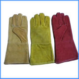 Guangzhou Factory Cow Split Leather Work Welding Gloves