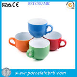 Cute Wide Mouth Tazza Ceramic Tea Cup