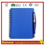 Blue PVC Cover Notebook for School and Office Supply